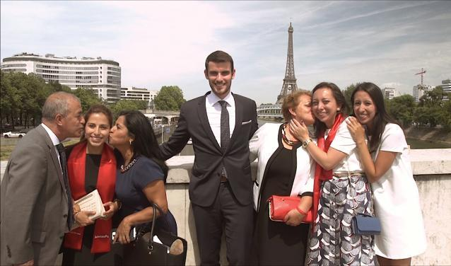 Sciences Po graduates and their parents in Paris