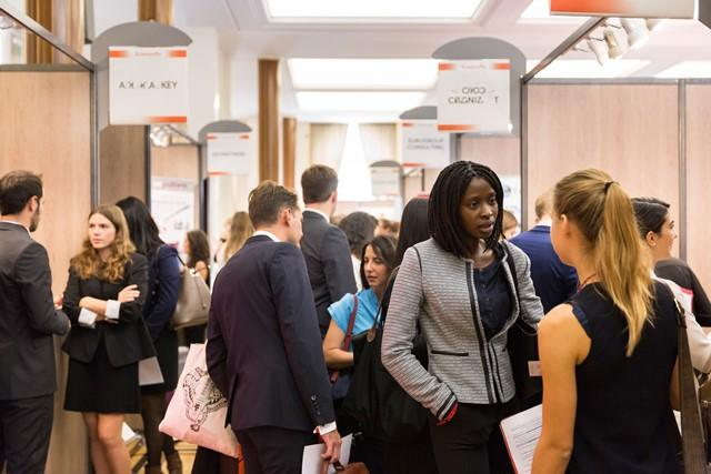 Stands au Forum Sciences Po Entreprises 2016